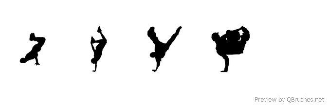 4 Black break dancers