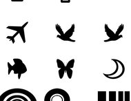 Symbols and birds brush