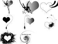 12 Valentines brushes