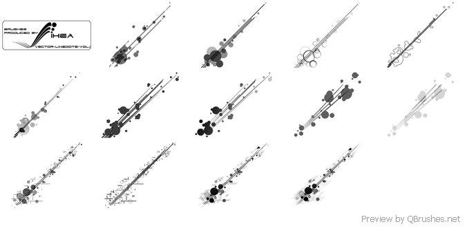 Line dots brush