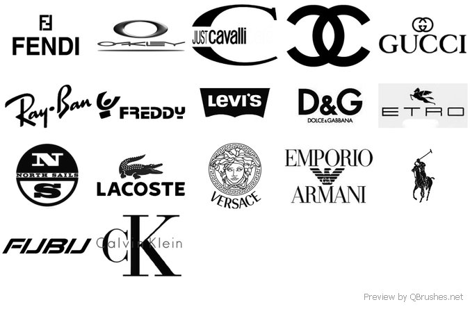 Fashion logos brushes
