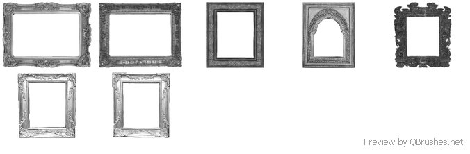 Decorative frames brushes