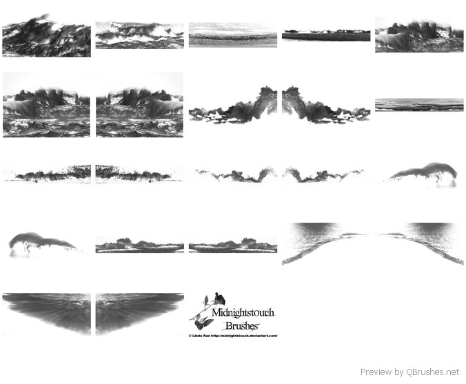 Stormy seas brushes