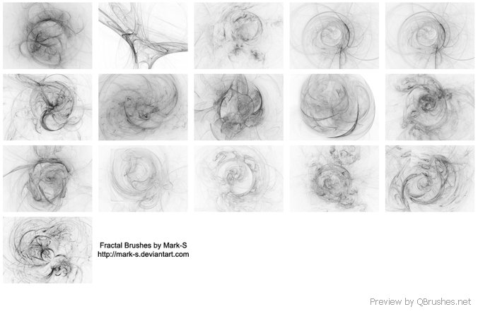 Here are 15 fractal brushes
