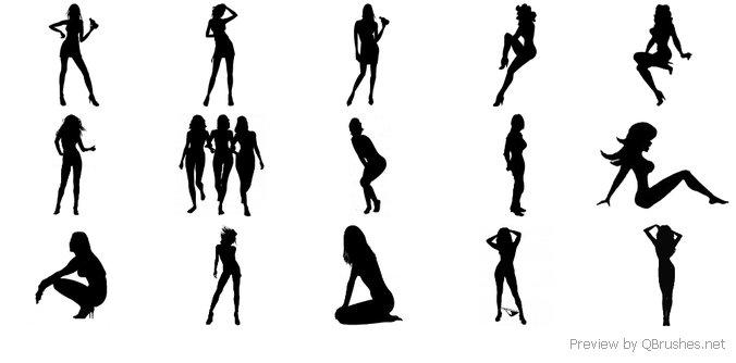 Female silhouettes