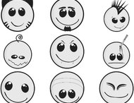 Smileys brush set