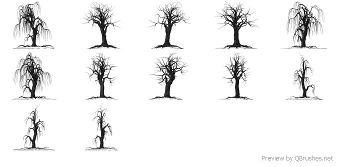 Creepy tree brushes