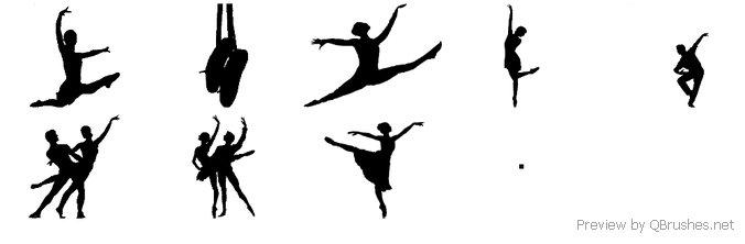 Ballet dancer brushes