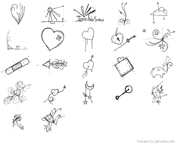22 Sketchbook scribble brushes