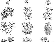 36 Flower brushes