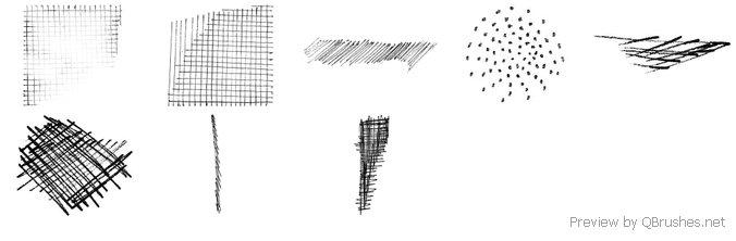 Shadow scribbles brush
