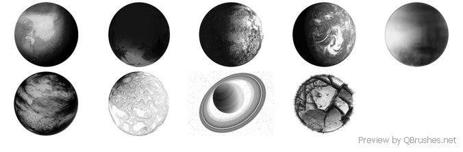 Planets Brush Set