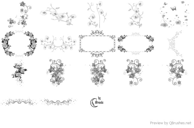 Deco Flowers  Brushes
