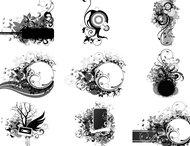 Floral frame brushes