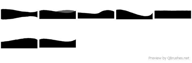 7 Big vector landscape brushes