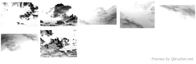 7x Cloud Brushes