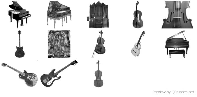 Musical instruments brushes