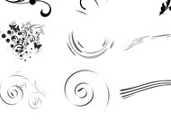 Floral and swirl brushes