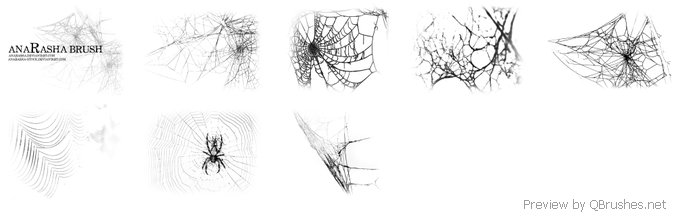 Spiders web brushes