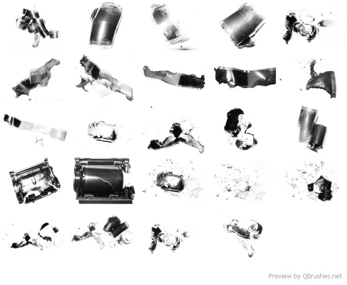 Burnt Negatives Brushes