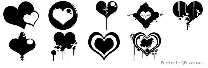 Baloon Heart Brushes