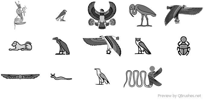 Egyptian animals brush