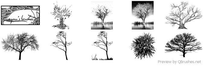 9 Tree Brushes