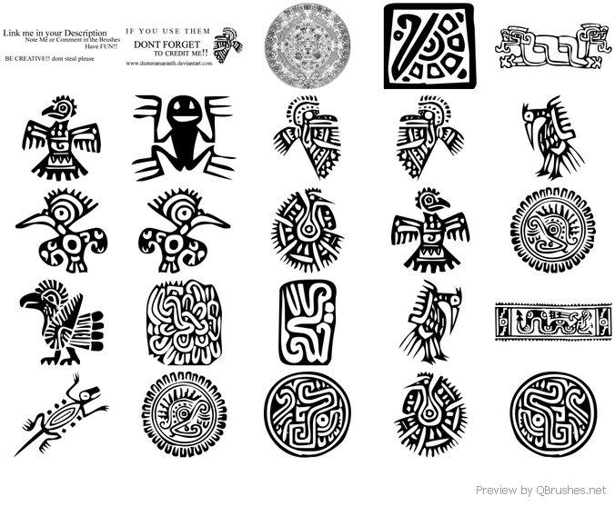 Aztec brushes