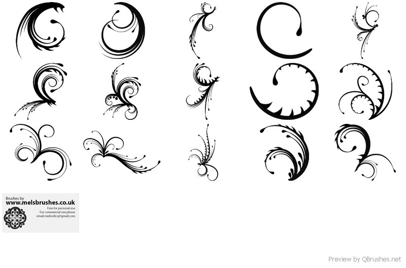 Free Spiky Swirl - Download | Qbrushes net