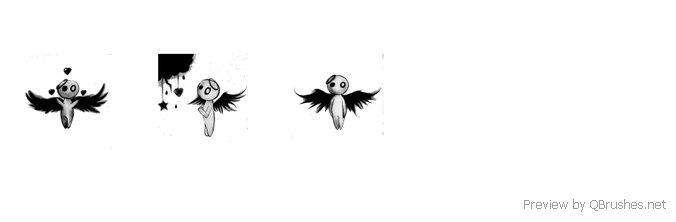 Dark angel brush Set