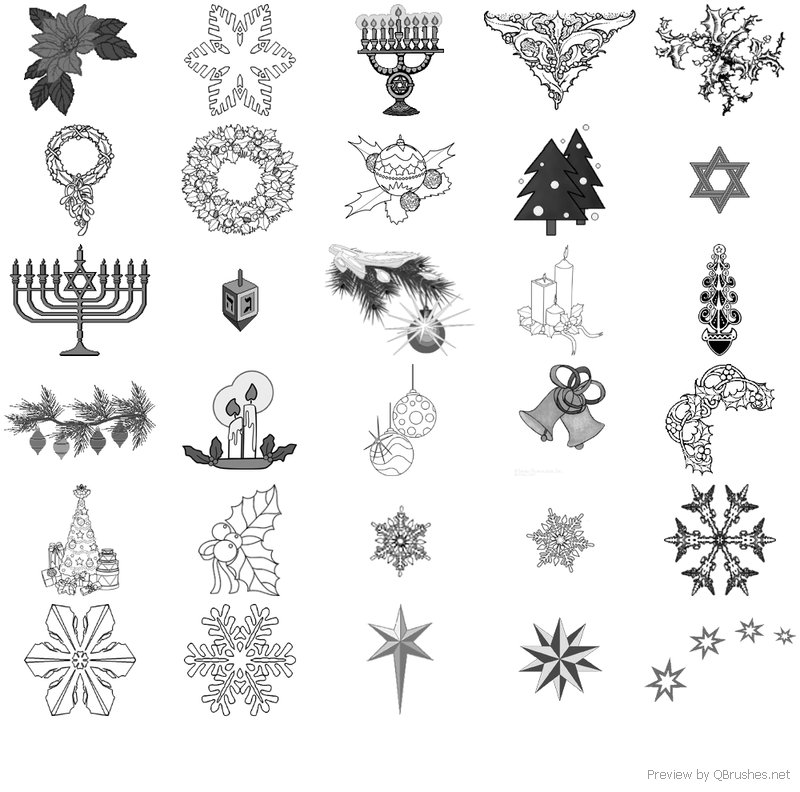 Assorted Holiday Brushes - Download