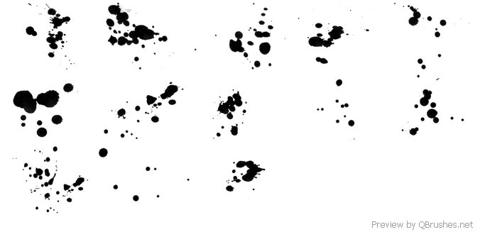 Small spatter brush pack