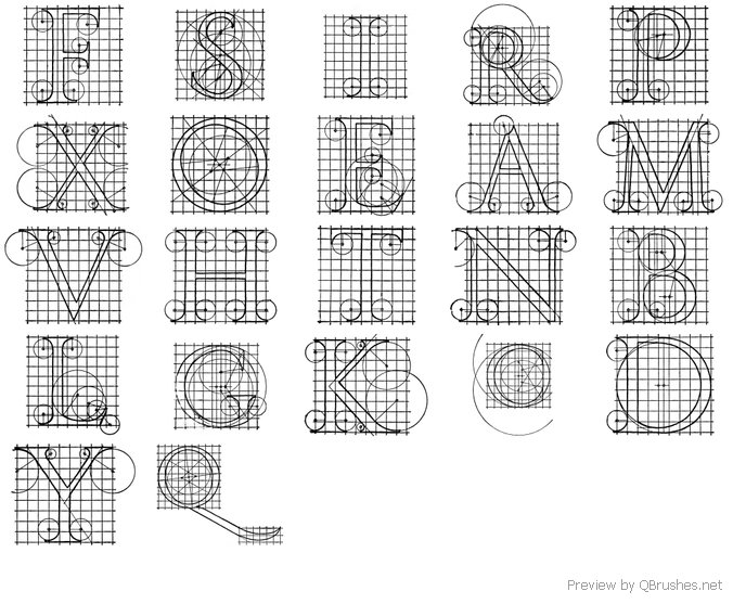 Roman Letters Diagrams - Download | Qbrushes.net