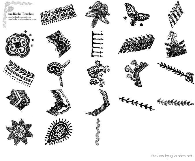 Henna decorative brush