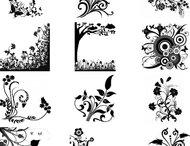 Floral decorative brushes