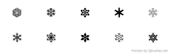 Snowflakes brush