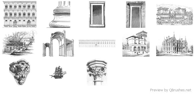 Architectural brushes