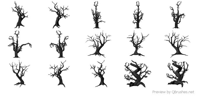 Spooky Tree Brushes