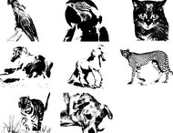 Animals free brushes