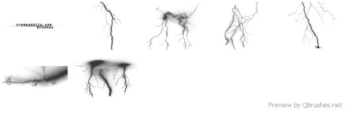 6 Lightning brushes
