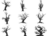 15 Spooky tree brushes
