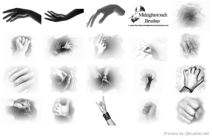 Hands photoshop 7 brushes