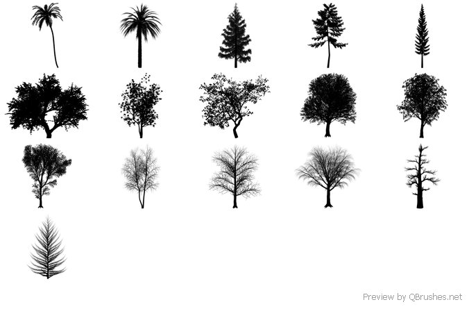 """Trees"" Promo Brush Pack"