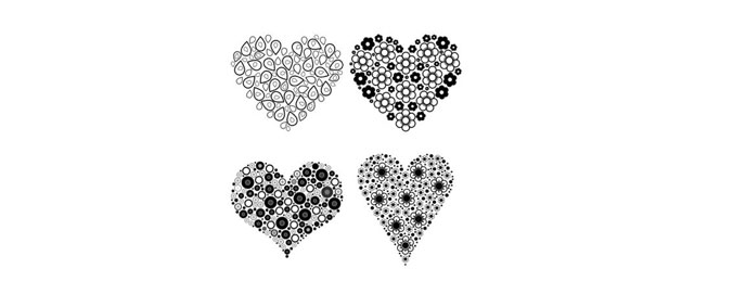 Fashioned Hearts Brushes