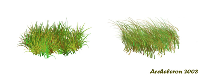 4 Grass Brushes