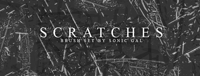 scratches photoshop brush set