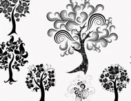 Decorative Trees Brush